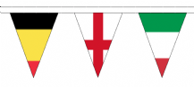 Euro 2016 Football - 24 Competing Country Triangular Flag Bunting - 9m Long